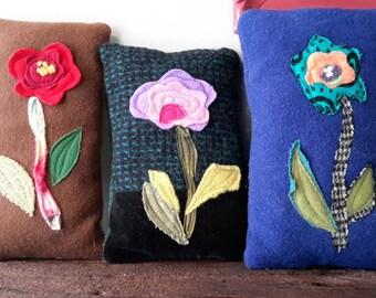 Flower rag pillows