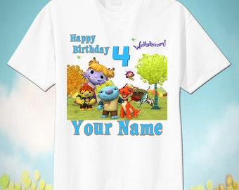 WALLYKAZAM Custom T-Shirt, PERSONALIZE with Name, Perfect Birthday Gift!