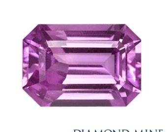 A Beautiful NaturalSapphire 1.15 Pink Emerald Cut AA