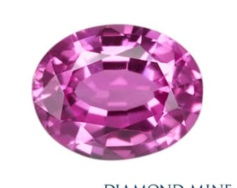 A Beautiful NaturalSapphire 1 Pink Oval AA