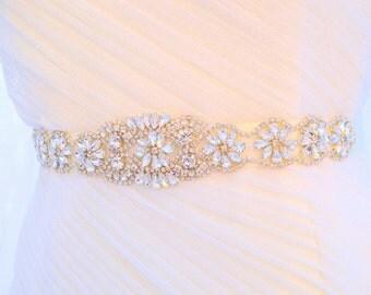 Bridal Sash Wedding Belt Sash Rhinestone Wedding Gown Belt Sash Flower Girl Bridesmaid Sash belt Crystal Dress Sash Belt, Wedding belt sahs