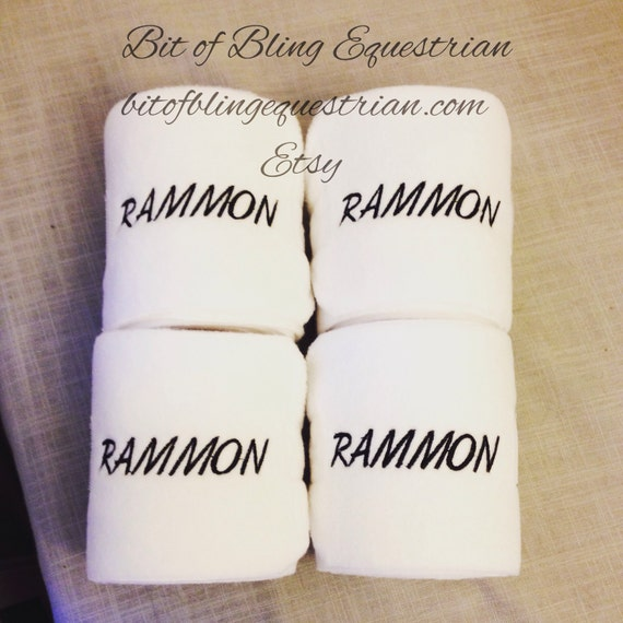 4 Custom Name Embroidered Polo Wraps