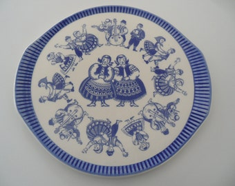 Torgau german cake plate,cakeplate,cake serving plate,Torgau german porcelain, serving plate,old cake plate,cake serving platter,old,plate