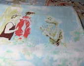 PRICE REDUCED - Vintage 1982 ET Full Sheet Set with Fitted, Flat and 2 Standard Pillow Cases