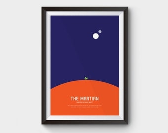 The Martian - A3 movie poster, film poster, minimalist movie poster, typography, matt damon, space, mars, andy weir, ridley scott