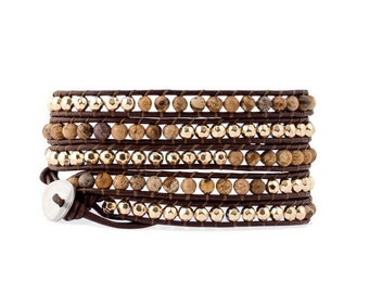 Bohemian Leather Wrap Bracelet