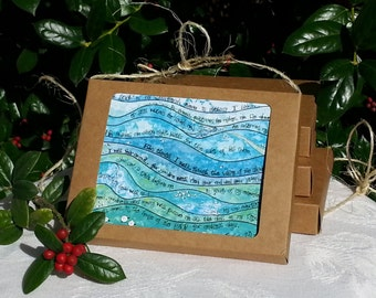Christian Sympathy Notecards with Prayer or Scripture, Watercolor, Death or Miscarriage, Set 8 notecards, Gift