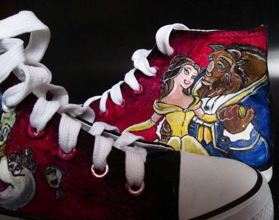 ec893f38077b Custom handpainted sneakers Beauty and the Beast Fanart good - www.b ...
