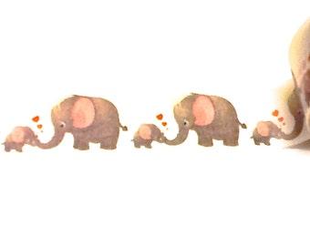 Mama and Baby Elephant Washi Tape, Washi Tape, Elephant Washi, Planner Washi, Baby Shower Decor, Planner Tape, Scrapbook Supplies