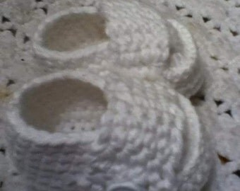 crochet baby loafers