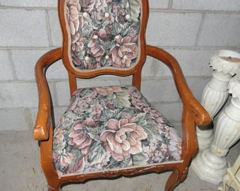 Retro French Chair New Fabric