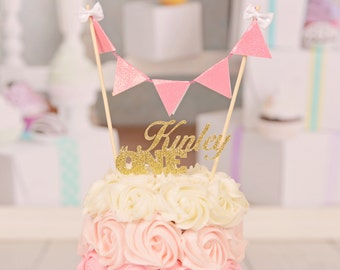 Custom Cake Topper with Name and Age