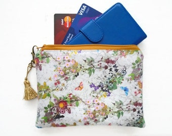 Grey Floral Ladies Wallet
