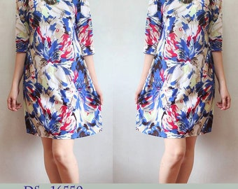 Classy Prints Long Sleeve Dress  (*with different prints to choose from)