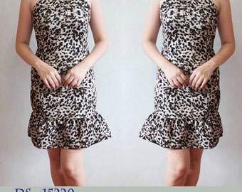 Halter Bodycon Flounce Dress (*with different prints to choose from)