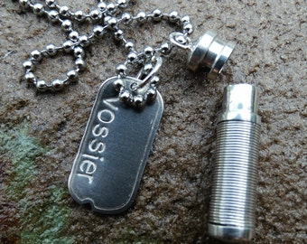 Best Seller Mens Urn Dog Tag CREMATION Jewelery Necklace Urn custom personalized engraved for ashes or hair locket after loss
