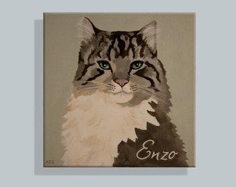 Custom Cat Portrait, 'Graphic' Style (Enzo)