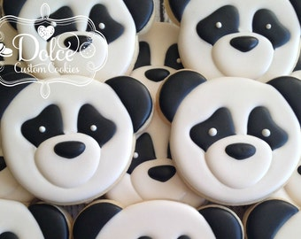 Panda Bear First Birthday Birthday Cookies