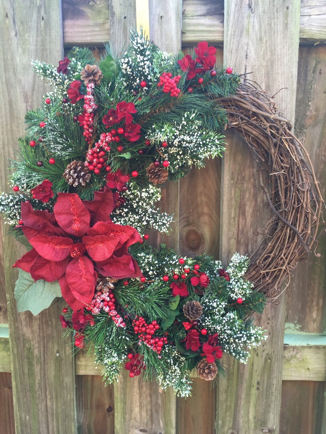 Winter Wreathafter Christmas Wreath Grapevine Wreath