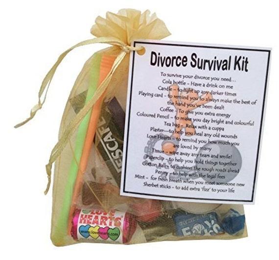 Unique Novelty Survival Kit: Divorce Survival Kit Gift Small Novelty Gift By SmileGiftsUK