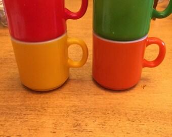 Vintage Hazel Atlas Mugs Set of 4