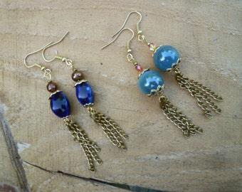 dancing tassle earrings