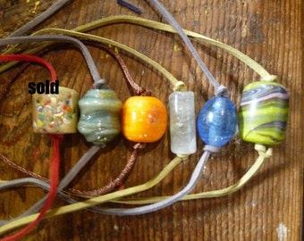vintage indian bead necklaces/chokers