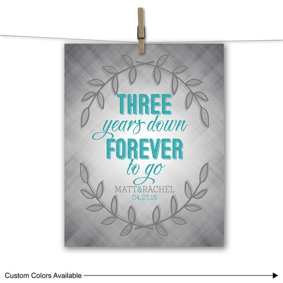 3 Year Wedding Anniversary Gift For Husband : third wedding anniversary gift for husband, wife, men 3 three years ...
