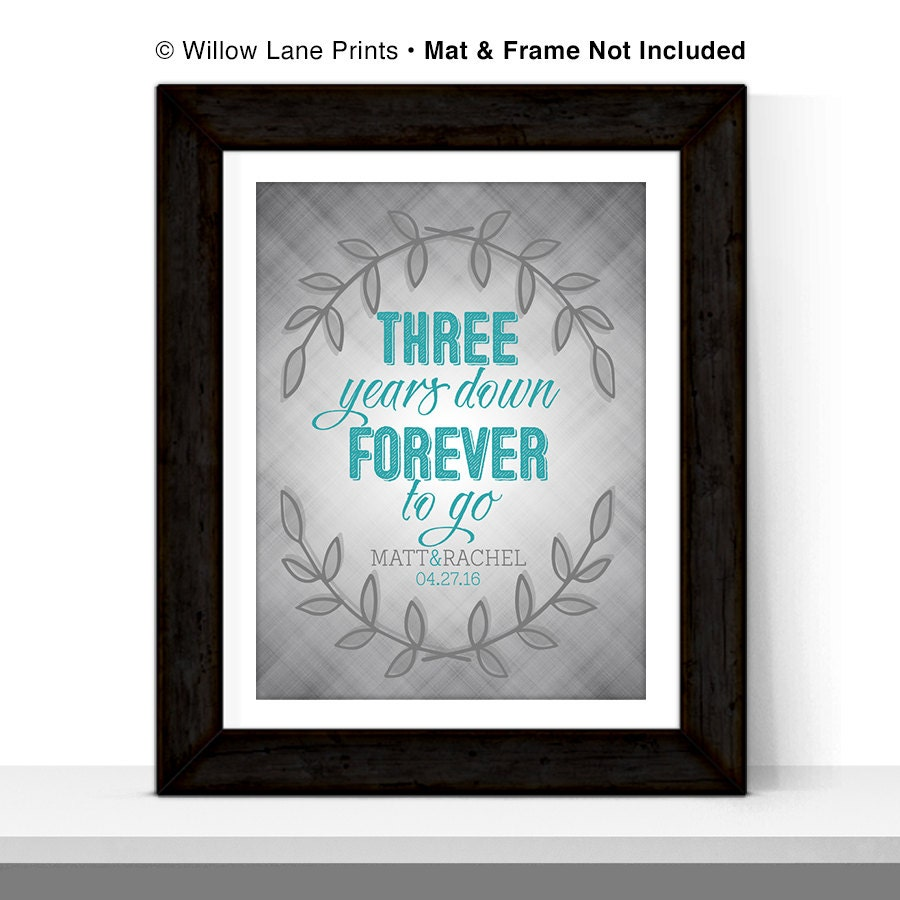 Thoughtful Wedding Gift For Sister : 3rd anniversary gift for him her couple third wedding