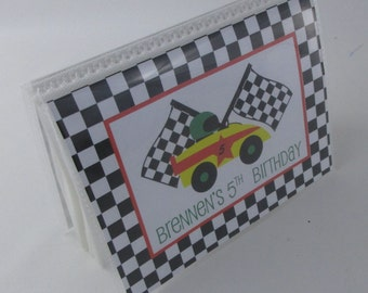 Race car Photo Album checkered flag photo book Boy photo book racing photo album Birthday photo album 4x6 photo album 5x7 photo album 427