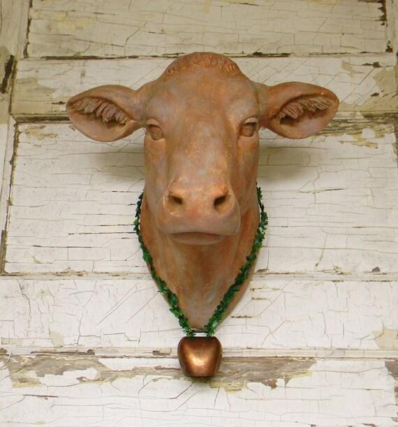 Faux Cow Headfaux Taxidermyanimal Headfaux Cow Headfaux