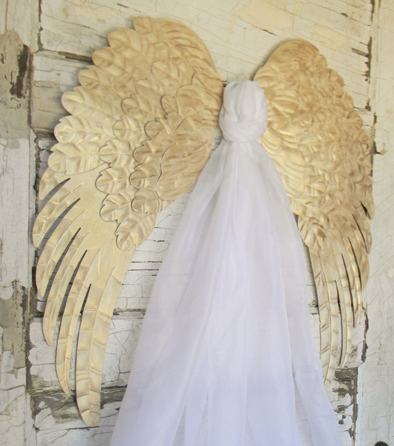 Angel wingsangel wing wall decorpair of by colorfulcastandcrew for Angel wings wedding dress