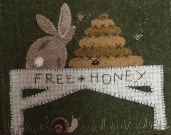 Honey bunny & Mr. S. Cargo!   Wool applique pattern