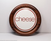 Round wood cheese board by Goodwood, round wood tray, cheese board with great vintage typography, fun housewarming gift for friends!