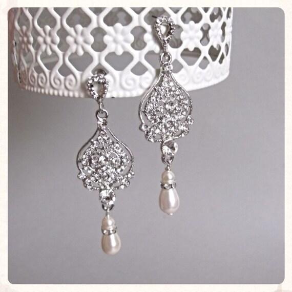 bridal earrings vintage inspired by beautifulbeau