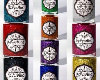 Holographic Glitter Polish Collection - 10 Polishes  / Free Shipping / All That Glitters / Gifts for Her