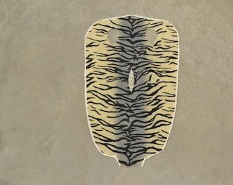 "Stingray Grey Zebra 15""x9"" 100% Genuine Exotic Leather Authentic hides inlay DE-44961 (85:B3A)"