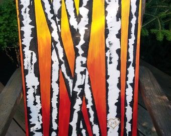 Birch Trees Canvas Painting