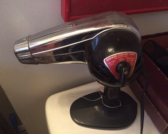 Vintage Hair Dryer, Chrome, Excellent Condition