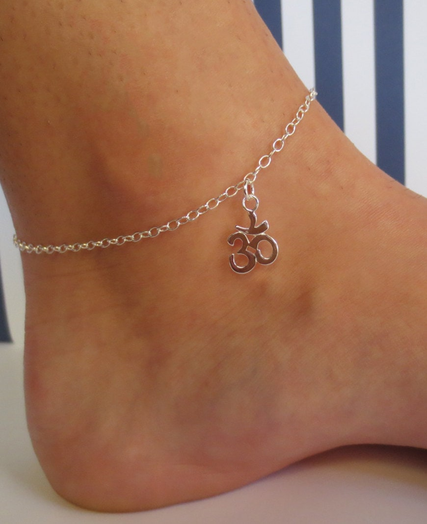 Sterling Silver Om Ankletom Ankletyoga Ankletyoga Om Ankle. Sliver Earrings. Game Chains. Red Coral Stud Earrings. Hagen Watches. Purple Flower Earrings. Display Watches. Engagement Gemstone. Magical Engagement Rings