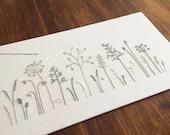 Wild Grass modern hand embroidery pattern - modern embroidery PDF pattern, digital download