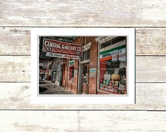 Nola Greeting Cards, Central Grocery, French Quarter Scenes, New Orleans, Handmade, Suitable For Framing, Fine Art Cards