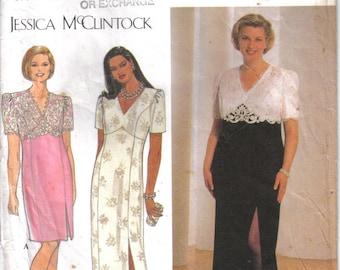 Vintage Simplicity Factory Folded Jessica McClintock Formal Dress Pattern 8731 Size 26-32 Bust 48-54 circa 1997