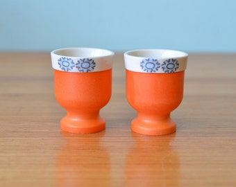 Retro orange egg cups Japan