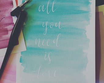 """Art Print: """"All you need is love"""""""