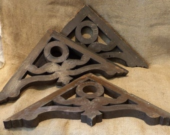 Wood Brackets, Wood Corbels, Old Architectural Salvage