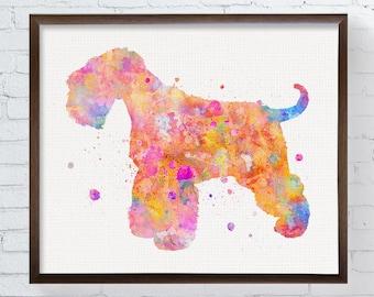 Schnauzer Art, Schnauzer Print, Schnauzer Watercolor, Schnauzer Painting, Schnauzer Poster, Schnauzer Wall Decor, Watercolor Dog, Dog Art