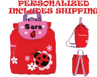 Backpack Stephen Joseph Quilted Ladybug Toddler Pre School  Backpack Diaper Bag INCLUDES SHIPPING!!!! PERSONALIZED