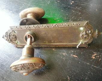 Copper/Aluminum Door Knobs & Plate