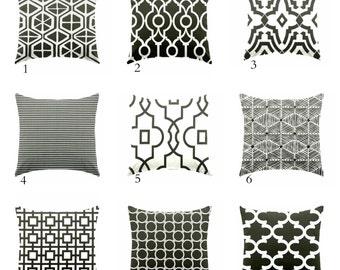 Decorative pillow, throw pillow, toss pillow, black pillow, geometric pillow, euro sham 26 x 26, 27 x 27